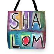 Shalom - Square Tote Bag by Linda Woods