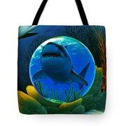 Shark World  Tote Bag by Robin Moline