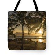 Sharks Cove Sunset 2 - Oahu Hawaii Tote Bag by Brian Harig