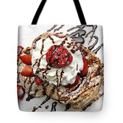 She Dreams In Chocolate And Strawberries Tote Bag by Andee Design