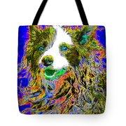 Sheep Dog 20130125v3 Tote Bag by Wingsdomain Art and Photography