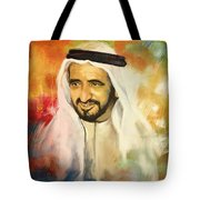 Sheikh Rashid Bin Saeed Al Maktoum Tote Bag by Corporate Art Task Force