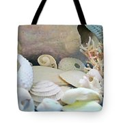 Shells In Pastels Tote Bag by Danielle  Parent