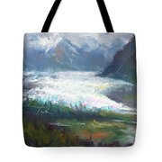 Shifting Light - Matanuska Glacier Tote Bag by Talya Johnson