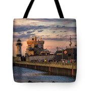 Ship Ahoy Tote Bag by Mary Amerman