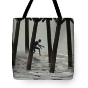 Shooting The Pier Tote Bag by Karen Wiles