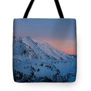 Shuksan Sunset Panorama Tote Bag by Mike Reid