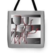 Side By Side Tote Bag by Iris Gelbart