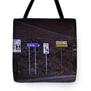 Signs Of A Crater - Sicily Tote Bag by Madeline Ellis
