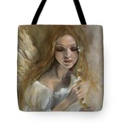 Silence Tote Bag by Dorina  Costras