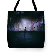 Silent Scream Tote Bag by Stelios Kleanthous