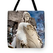 Silent Winter Angel Tote Bag by Gothicolors Donna Snyder