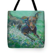 Silly Goose Tote Bag by Kimberly Santini