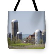 Silos - Norristown Farm Park Tote Bag by Bill Cannon