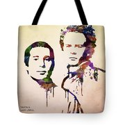 Simon And Garfunkel Tote Bag by Aged Pixel