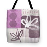 Simple Flowers- Contemporary Painting Tote Bag by Linda Woods