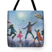Singing In The Rain Super Hero Kids Tote Bag by Vickie Wade