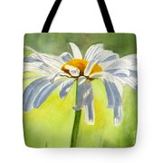Single White Daisy Blossom Tote Bag by Sharon Freeman