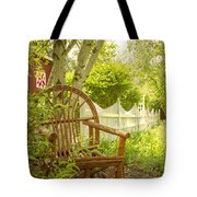Sit For A While Tote Bag by Margie Hurwich