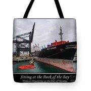 Sitting At The Dock Of The Bay Tote Bag by Tikvah's Hope