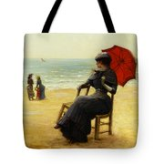 Sitting By The Sea Tote Bag by Edouard Bisson