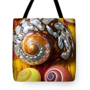Six Snails Shells Tote Bag by Garry Gay