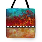 Sizzle Abstract Floral Art Tote Bag by Ann Powell