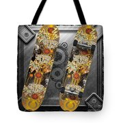 Skateboard Tote Bag by Mo T