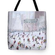 Skating Rink Central Park New York Tote Bag by Judy Joel