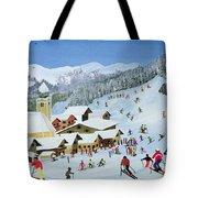Ski Whizzz Tote Bag by Judy Joel