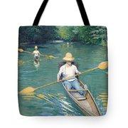 Skiffs Tote Bag by Gustave Caillebotte