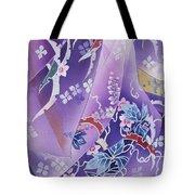 Skiyu Purple Robe Crop Tote Bag by Haruyo Morita