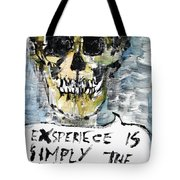Skull Quoting Oscar Wilde.4 Tote Bag by Fabrizio Cassetta