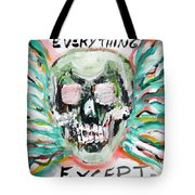 Skull Quoting Oscar Wilde.7 Tote Bag by Fabrizio Cassetta