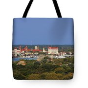 Skyline Of St Augustine Florida Tote Bag by Christine Till