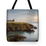 Slains Castle Sunrise Tote Bag by Dave Bowman