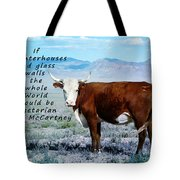Slaughterhouses Tote Bag by Janice Rae Pariza