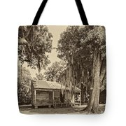 Slave Quarters Sepia Tote Bag by Steve Harrington