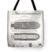 SLAVE SHIP MIDDLE PASSAGE STOWAGE DIAGRAM  1788 Tote Bag by Daniel Hagerman