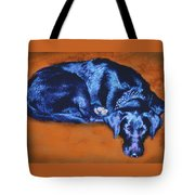 Sleeping Blue Dog Labrador Retriever Tote Bag by Ann Powell