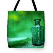 Small Green Poison Bottle Tote Bag by Rebecca Sherman