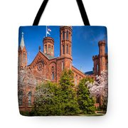 Smithsonian Castle Wall Tote Bag by Inge Johnsson