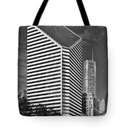 Smurfit-stone Chicago - Now Crain Communications Building Tote Bag by Christine Till