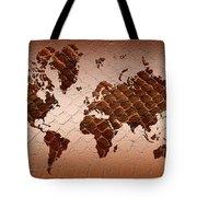 Snake Skin World Map Tote Bag by Zaira Dzhaubaeva