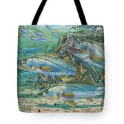 Snook attack In0014 Tote Bag by Carey Chen