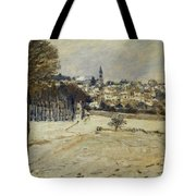 Snow At Marly-le-roi Tote Bag by Alfred Sisley