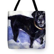 Snow Belle Tote Bag by Molly Poole