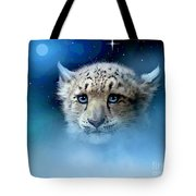 Snow Leopard Cub Tote Bag by Robert Foster
