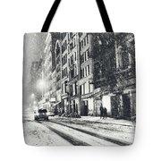 Snow - New York City - Winter Night Tote Bag by Vivienne Gucwa
