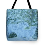 Snow Wolves Tote Bag by Eloise Schneider